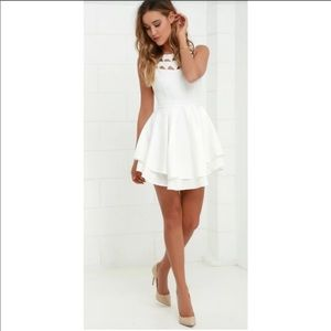 Lulu's flirting with danger cutout white dress